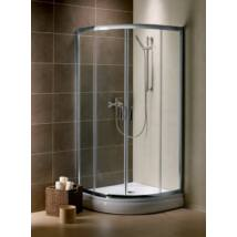 Radaway Premium Plus A 1900 90x90x190 íves zuhanykabin átlátszó üveggel, görgős