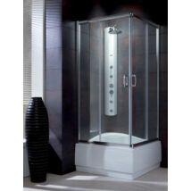 Radaway Premium Plus C 1700 90x90x170 szögletes zuhanykabin átlátszó üveggel, görgős