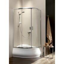 Radaway Premium Plus E 1700 120x90x170 íves aszimmetrikus zuhanykabin átlátszó üveggel, görgős