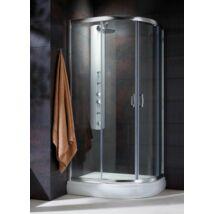 Radaway Premium Plus E 1900 90x80x190 íves aszimmetrikus zuhanykabin átlátszó üveggel, görgős
