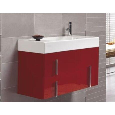 Royo Duo 80 Combination alsó bútor+mosdó+láb, piros