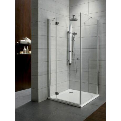 Radaway Torrenta KDJ 90B 90x90x185 zuhanykabin, balos, króm, átlátszó üveggel + zuhanytálca