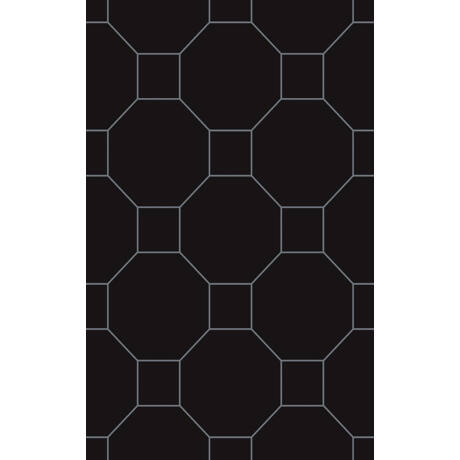 Kwadro - Martynika Nero Inserto dekor falicsempe 25x40 I.oszt